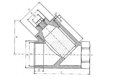 GL11不锈钢丝口Y型过滤器连接尺寸及结构图:.jpg
